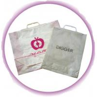 Eco - friendly Shopping Plastic Handle Bag With Hard Loop , Snap Button Manufactures
