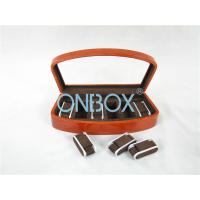 Brown High Gloss Wooden Watch Collection Case With Luxury Adjustable Pillows Manufactures