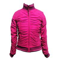 Short womens Padded Jacket Organic Womens Clothing with Zip , Red Manufactures