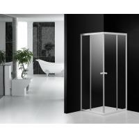 Round Knob Handle Sliding Shower Enclosure With Clear Glass Shower Doors Manufactures