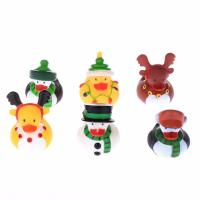 Floating Christmas Miniature Rubber Ducks Ornament Eco - Friendly PVC Toy Manufactures