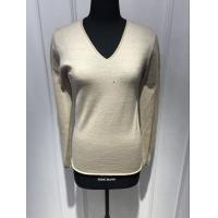 Custom Black / Yellow / Grey Pullover Sweater , Womens Navy Cashmere V Neck Sweater Manufactures