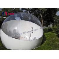 Quality Outdoor Bubble Tent PVC Clear Camping Tent 4M Diameter & 2 Fitting Room for sale