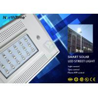 1900LM 18w LED Street Light With Pole Solar Panel 12v 13ah Lithium Battery Manufactures