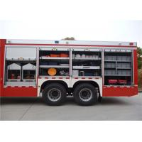 Six Seats Rescue Fire Truck Red Painting 9920×2480×3320mm Dimension QC168 Manufactures