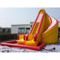 Outdoor Kids Inflatable Water Slide With Pool / PVC Tarpaulin Water Park Games Manufactures