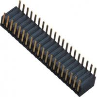 Phosphor Bronze 1.27mm 2x20 Female Header Dual Side Insert 90°DIP H=3.45 ROHS Manufactures