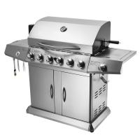6 Burners Lava Rock Outdoor Rotisserie Gas Barbecue Grill Spit Roaster With Motor Manufactures