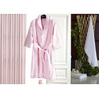 Jacquard Comfortable Hotel Luxury Bath Robes , Women's / Mens Luxury Towelling Bathrobe Manufactures
