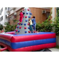Entertainment Inflatable Rock Climbing Wall For Kids , PVC Outdoor Rock Wall Manufactures