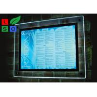 Indoor Wall Mounting Crystal Light Box Stand Thickness 8mm Acrylic Frame Sign Manufactures