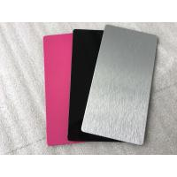 Pink / Black Exterior Insulated Wall Cladding Panels High Intensity 5mm Thickness Manufactures