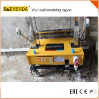 Steel Chain Wall Render Products Mechanical Plastering Machine Yellow Colour Manufactures