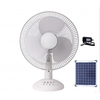 Portable 12in 12000mah Solar Rechargeable Table Fan 15W Manufactures