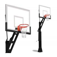 School Basketball Hoop Stand Basketball Adjustable Height Weather Proof Nylon Net Material Manufactures