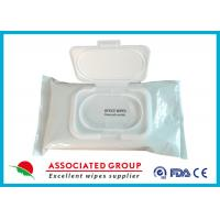 Pre Moistened Spunlace Towels Antibacterial Hand Wipes For Cleaning / Deodorizing Surfaces Manufactures