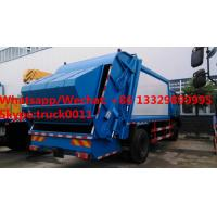 Wholesale bottom price customized dongfeng 4*2 RHD 190hp Euro 3 14m3 compression garbage truck, garbage compactor truck