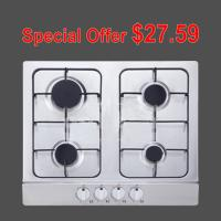 Natural Gas / LPG Inset Stainless Steel Gas Hob , Four Burner Gas Stove for Cooking Manufactures