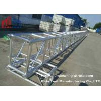 8 Pillar Silver Stage Lighting Truss System Hand Hoist 4 TONS Loading For Event Manufactures