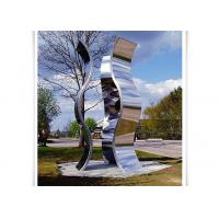 Novel Design Outdoor Metal Sculpture , Metal Garden Statues Mirror Polished Surface Manufactures