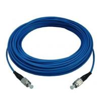 ST / UPC - ST Indoor Armoured Fiber Optic Patch Cord with Blue , LSZH jacket Manufactures
