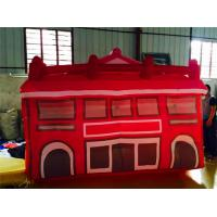 Red Inflatable Fun House / Tarpaulin And Oxford Party Inflatables Manufactures
