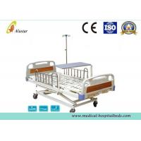 3 Position Hand Operated Medical Hospital Beds with Stainless Steel Guardrail (ALS-M319) Manufactures