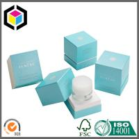 Luxury Cosmetics Rigid Board Paper Packaging Box; Blue Color Cosmetic Gift Box Manufactures