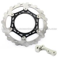 270mmm Motorcycle Brake Disc Rotor YZ 125 250 And Black Silver Alloy Adaptor Manufactures