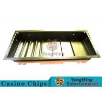 Buy cheap Poker Table Dedicated Poker Chip Case Iron Metal With 4 Square Shape Row from wholesalers