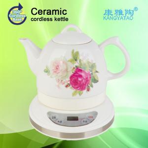 China 1.0L  keep warm ceramic electric tea kettle on sale