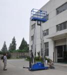Dual mast vertical access platform aerial work platform aluminum lift Manufactures