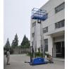 Buy cheap Dual mast vertical access platform aerial work platform aluminum lift from wholesalers