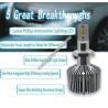 9008 9012 H7 LED Headlights Bulbs / Brighter Headlight Bulbs 4500 LM Manufactures