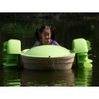 Green Inflatable Water Toys Aquatic Amusement Kids Hand Power Paddle Boat Manufactures