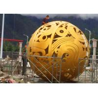 Quality Stunning Huge Metal Sphere Sculpture , Stainless Steel Garden Sculptures for sale