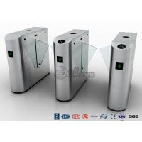 Auto Retractable Entrance Waist High Turnstile With Face Recognition / Card Reader Manufactures