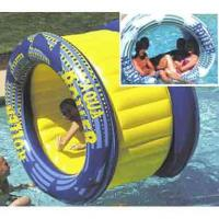 Outdoor Big Inflatable Water Roller Ball With Slides , EN71 / SGS / CE / UL Certificate Manufactures