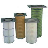 cellulose self cleaning pleated air filter cartridge for industrial filter DN324x750mm height Manufactures