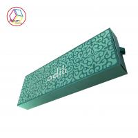 Green Hair Extensions Packaging Box , Cardboard Wig Box Customized Logo Manufactures