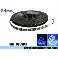 12V 14.4W Blue Led Light Strips300 5050 LEDs Waterproof  Epoxy Material Manufactures