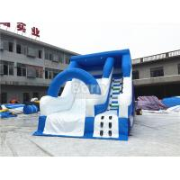 Blue Small Commercial Inflatable Slide For Children / Backyard Water Slide Manufactures