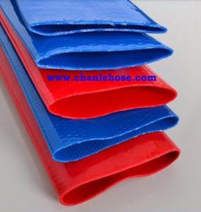 Heavy duty Layflat hose, Max 10bar working pressure irrigation hose, blue mangueras Manufactures