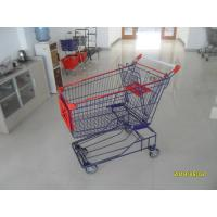 Buy cheap Supermarket 150L Wire Shopping Carts With 4 Flat Casters 1010x580x1016mm from wholesalers