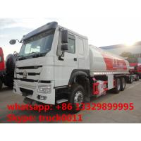 SINO TRUK HOWO 25,000L oil tank truck for sale, cheapest price 25m3 336hp diesel dispensing truck for sale Manufactures