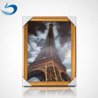 Custom Printing 3D Lenticular Poster PET Image High Definition Eiffel Tower Poster Manufactures