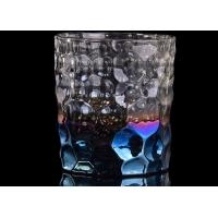 Debossed Iridescent Glass Candle Holders For Wedding Home Decoration Manufactures