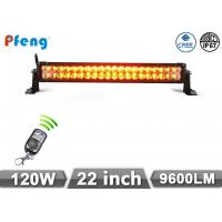22 Inch 120W Cree Led Light Bar Amber White Flashing With Remote Control Manufactures