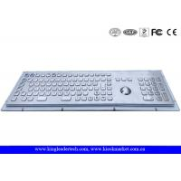 Rugged Metal Industrial Keyboard With Trackball 103 Function Keys And Number Keypad