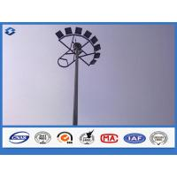 LED Electric Q235B / A283 M steel mast highway light pole , light tower mast customized color Manufactures